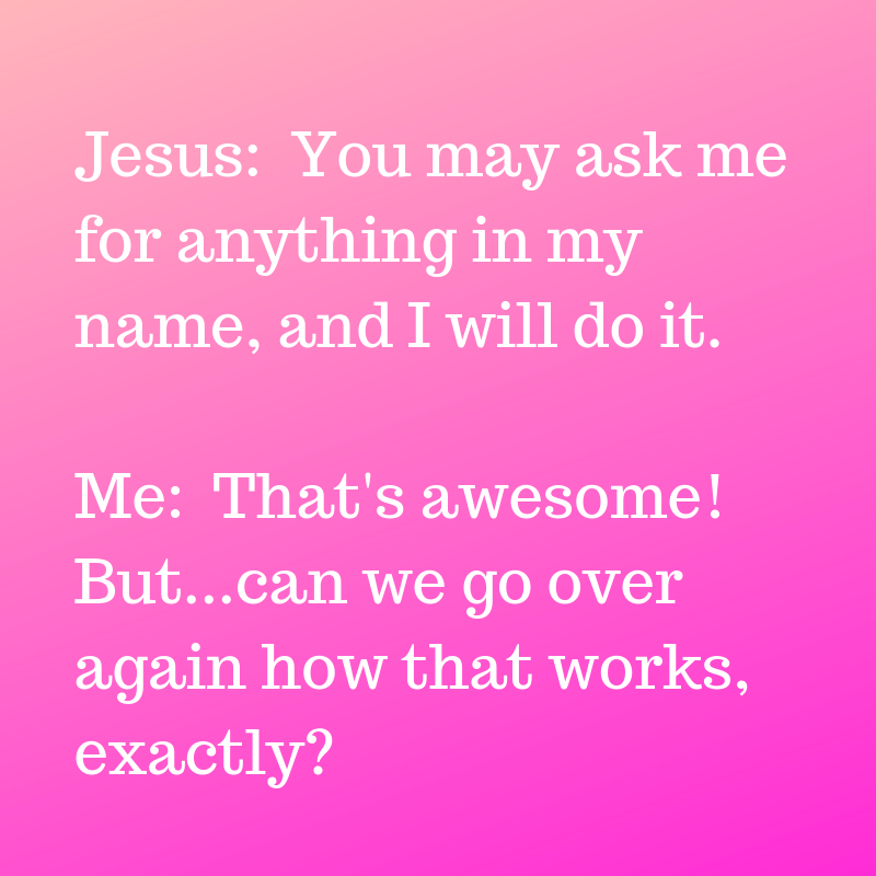 "You know the drill: We ask God for something, or say grace over a meal, and  then (sometimes without even thinking) we tack on a quick ""…in Jesus' name,  ..."