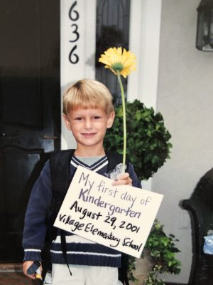 Robbie First Day of Kindergarten