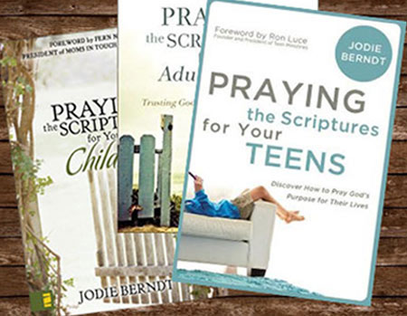 Praying the Scriptures series book covers