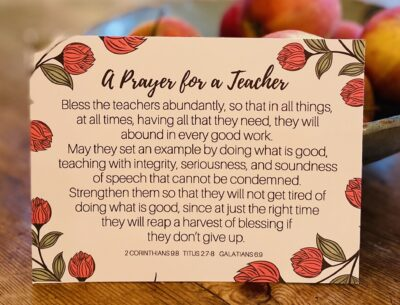 A Prayer for a Teacher