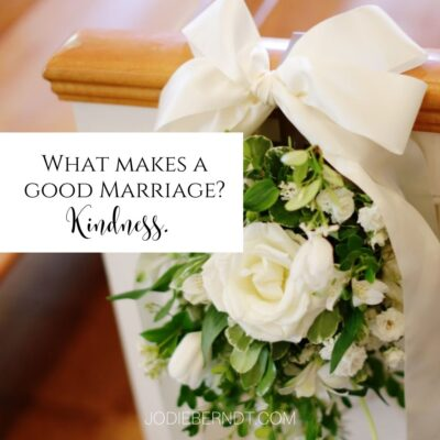 What makes a good marriage? Kindness