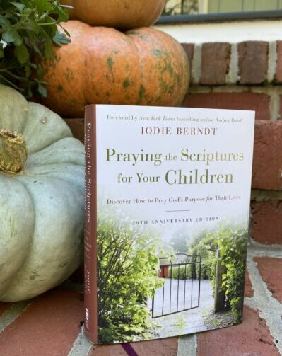 Praying the Scriptures book with Pumpkins