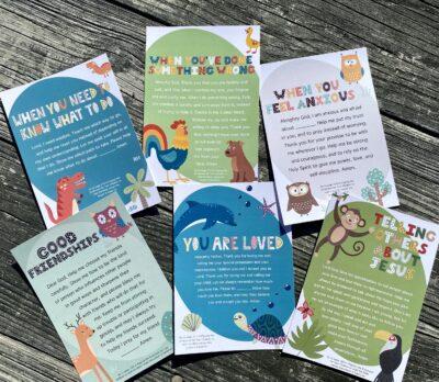 Bedside Prayer Cards to Teach Children to Pray