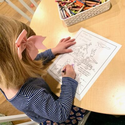Teach Children to Pray Girl Coloring
