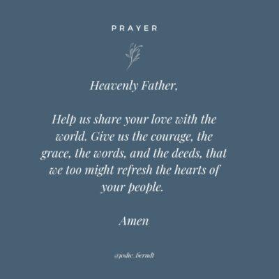 Prayer for sharing your faith
