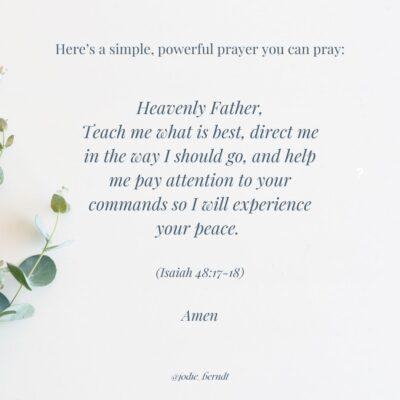 Isaiah 48:17-18 prayer
