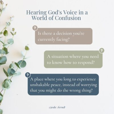 Hearing God's Voice questions