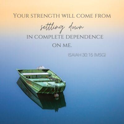 Boat at rest - Isaiah 30:15