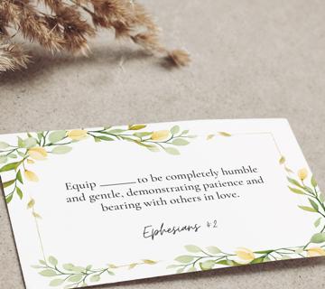 Printable back-to-school prayer (Eph 4:2)